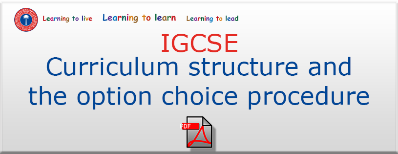 Curriculum structure and the option choice procedure
